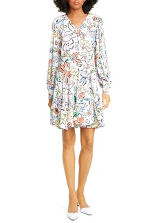STINE GOYA Farrow Floral Long Sleeve Dress