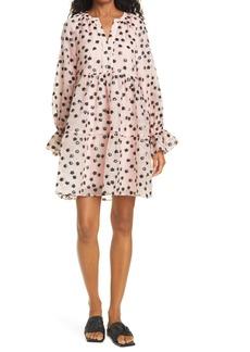 Stine Goya Ivana Floral Long Sleeve Organza Dress