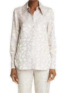 Stine Goya James Metallic Jacquard Shirt