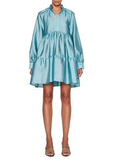 Stine Goya Jasmine Long Sleeve Taffeta Minidress
