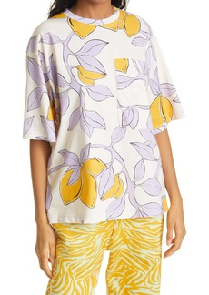Stine Goya Lemon Print Oversize Pocket T-Shirt