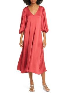 Stine Goya Marlen Satin Midi Dress
