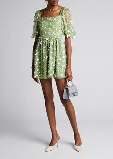 Stine Goya Monika Floral Sequined Short Dress