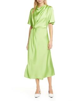 Stine Goya Rhode Drape Midi Dress