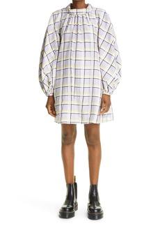 Stine Goya Samantha Racer Grid Long Sleeve Organic Cotton & Silk Dress