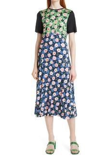 Stine Goya Scout Mixed Print Midi Dress
