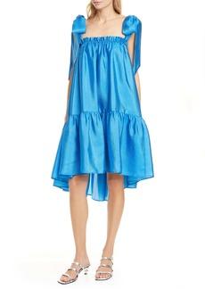 Stine Goya Serena Bow High/Low Shift Dress