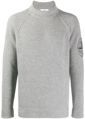 Stone Island embroidered logo sweater