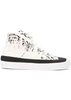 Stone Island abstract-print high-top sneakers