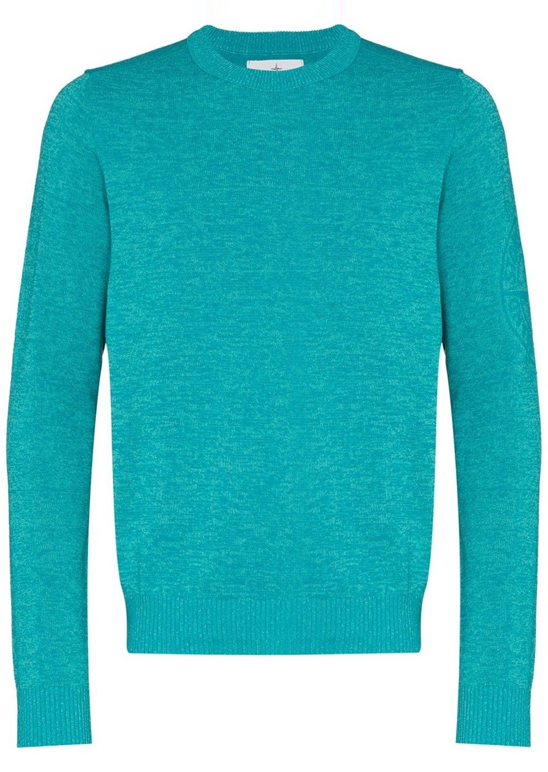Stone Island arm logo knitted jumper