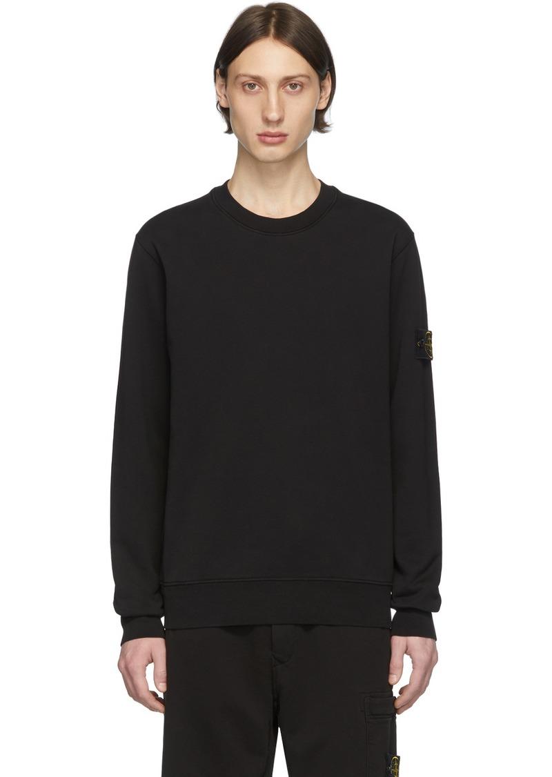 Stone Island Black Garment-Dyed Sweatshirt