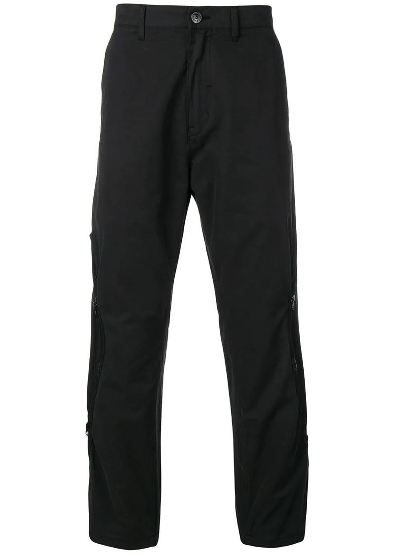 Stone Island black lightweight zip trousers