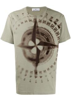 Stone Island blurry compass print T-shirt