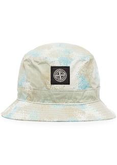 Stone Island Burnout printed logo bucket hat