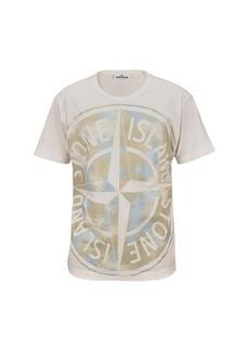 Stone Island Camo logo t-shirt