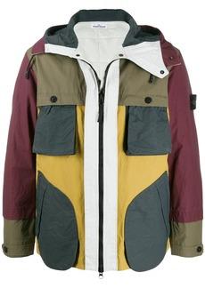 Stone Island color-block zip jacket