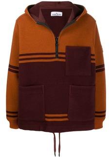 Stone Island colour block hooded jacket