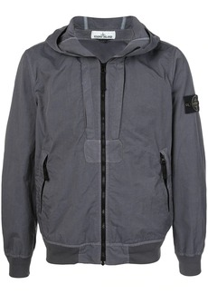 Stone Island compass badge hooded jacket