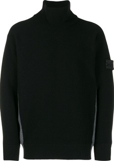 Stone Island contrast roll-neck sweater
