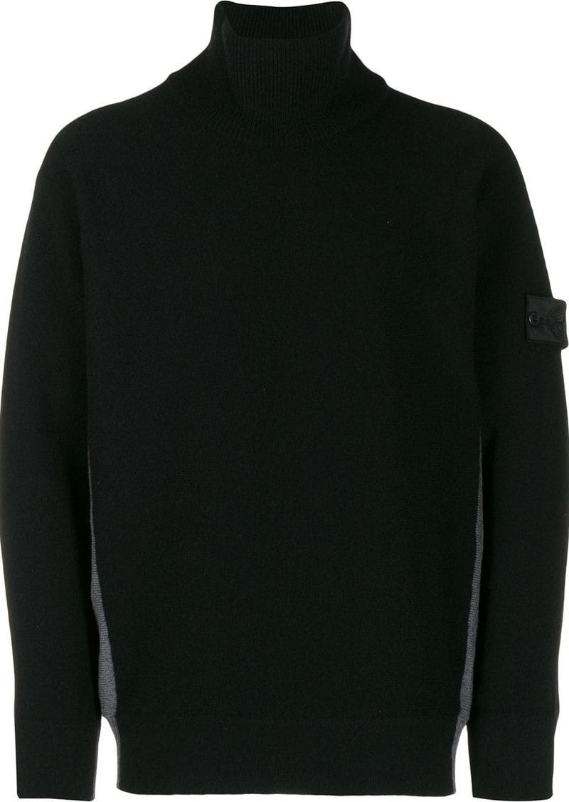 Stone Island contrast roll-neck sweater