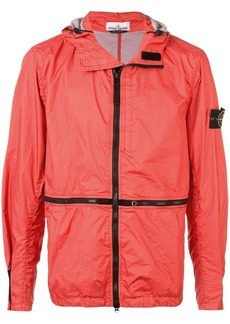 Stone Island contrast-trim zipped jacket