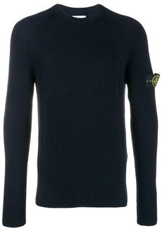 Stone Island crew neck badge jumper