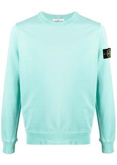 Stone Island logo-patch crew-neck sweatshirt