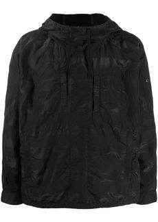 Stone Island crinkled shell hoodie