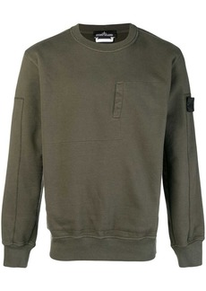 Stone Island embroidered concealed pocket sweatshirt