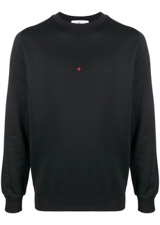 Stone Island embroidered-logo cotton sweater
