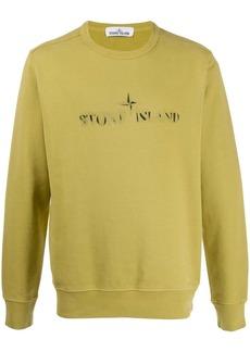 Stone Island faded logo sweatshirt