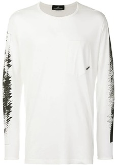 Stone Island graphic print long sleeve top