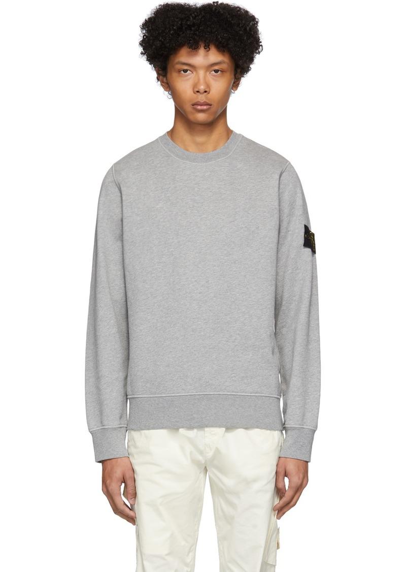 Stone Island Grey Garment-Dyed Sweater