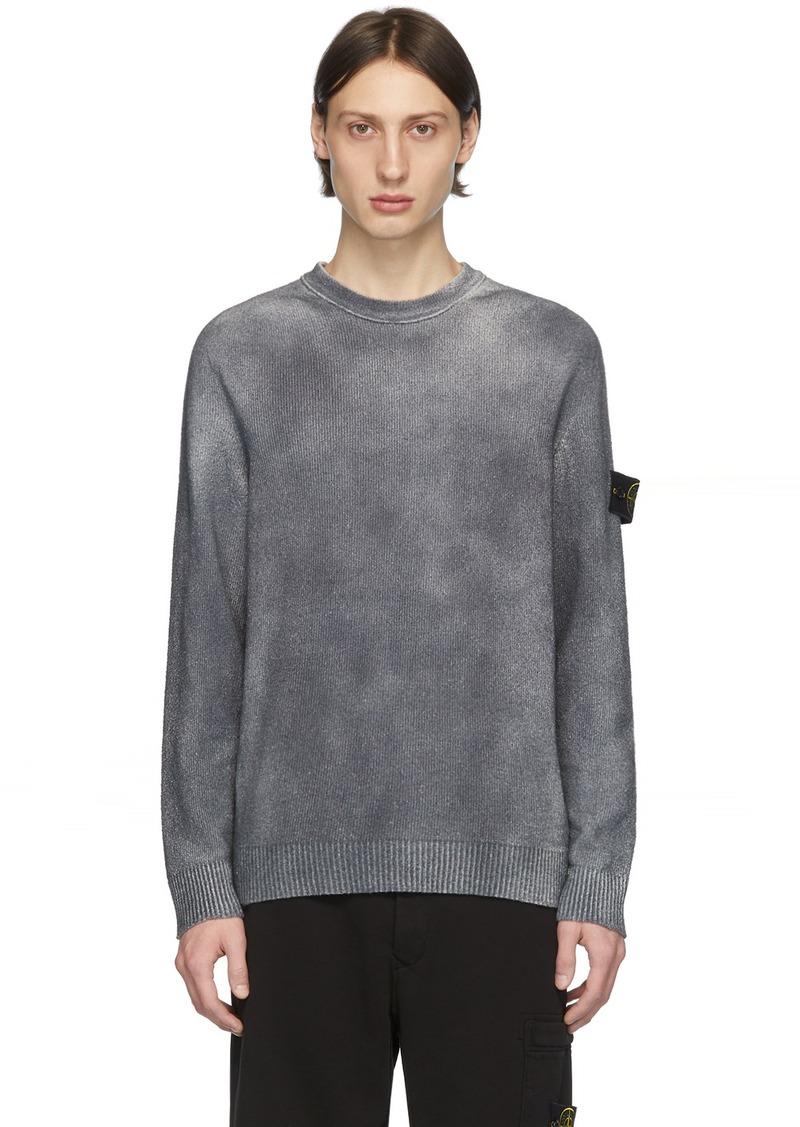Stone Island Grey Hand-Dyed Knit Sweater
