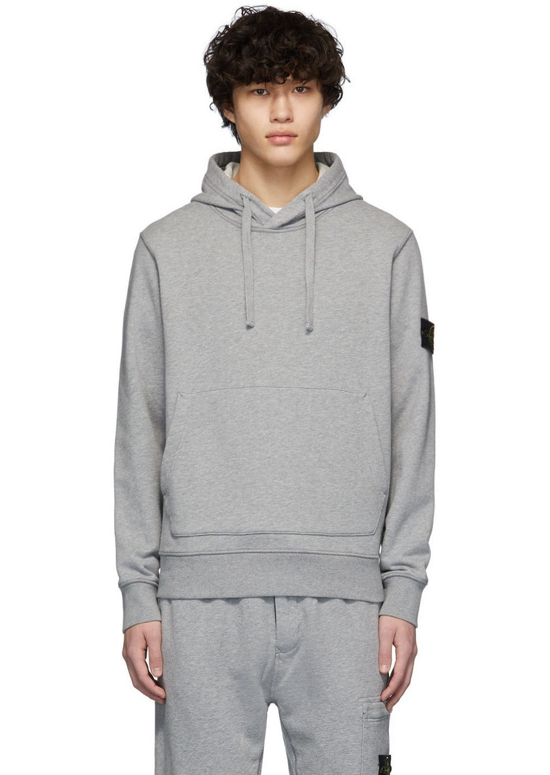 Stone Island Grey Pullover Hoodie
