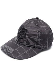 Stone Island grid-print baseball cap