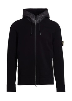 Stone Island Hooded Stretch-Wool Sweater