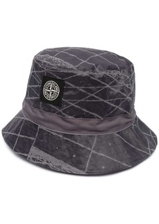Stone Island logo-appliqué packable hat