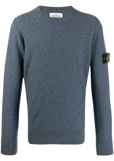 Stone Island logo badge sweatshirt