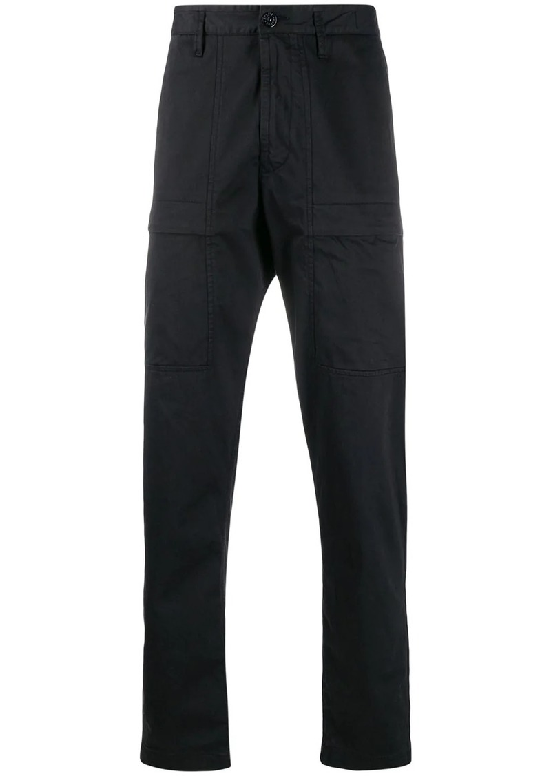 Stone Island logo embroidered cargo trousers