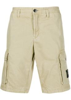 Stone Island logo patch cargo shorts