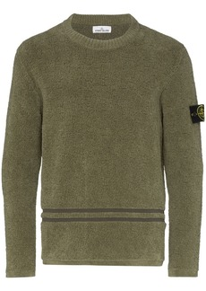Stone Island logo-patch chenille sweater