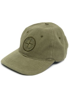 Stone Island logo-patch cotton cap
