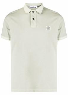 Stone Island logo-patch cotton polo shirt