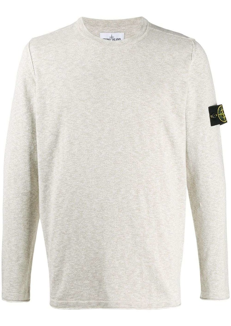 Stone Island logo patch relaxed-fit jumper