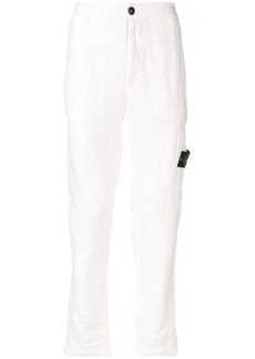 Stone Island logo patch straight-leg trousers