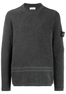 Stone Island Logo Patch Textured Jumper