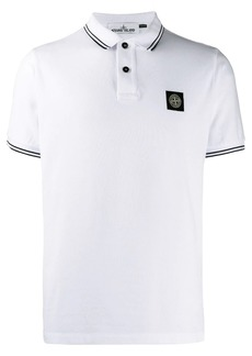Stone Island logo print polo shirt