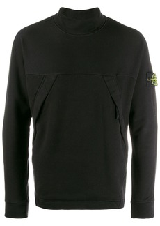 Stone Island logo roll neck jumper