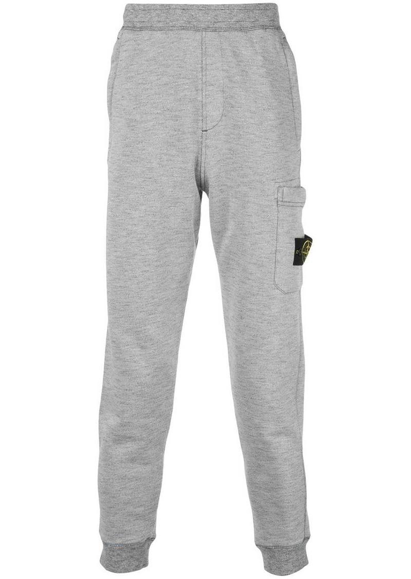 Stone Island logo track trousers
